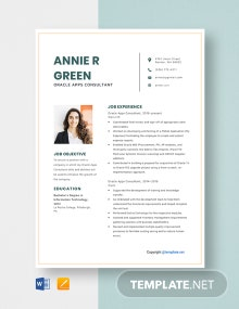 Free Oracle Apps Consultant Resume Template