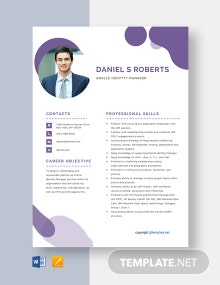 Free Oracle Identity Manager Resume Template