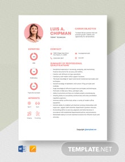 Free Permit Technician Resume Template