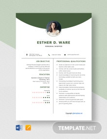 Free Personal Shopper Resume Template