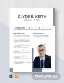 Free Personnel Manager Resume Template