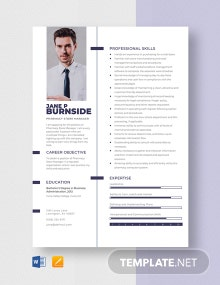 Free Pharmacy Store Manager Resume Template