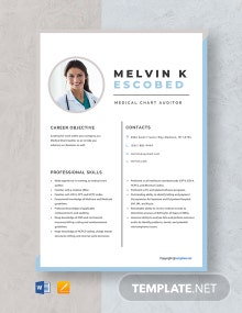 Free Medical Chart Auditor Resume Template