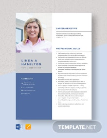 Medical Case Manager Resume Template