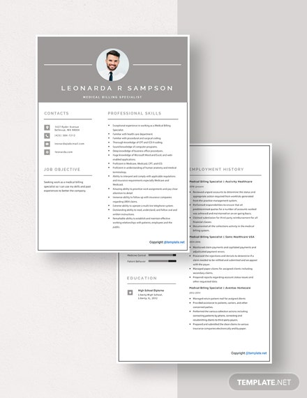 Medical Billing Specialist Resume Download