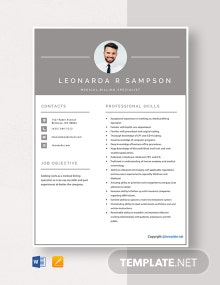Free Medical Billing Specialist Resume Template
