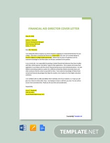 Free Financial Aid Director Cover Letter Template