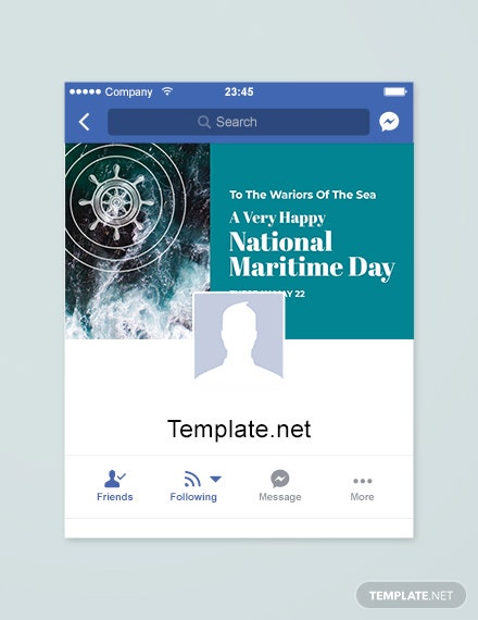 Free National Maritime Day Facebook App Cover