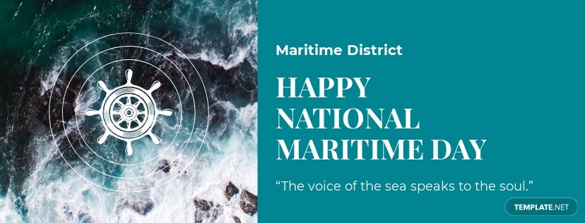 National Maritime Day Facebook App Cover Template