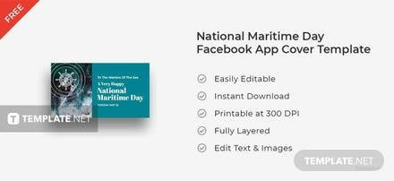National Maritime Day Facebook App Cover