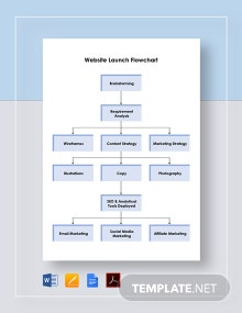 Website Launch Flowchart Template