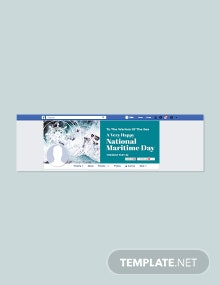 Free National Maritime Day Facebook Cover Template