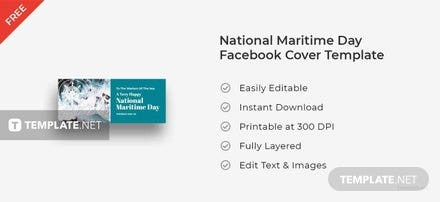 National Maritime Day Facebook Cover Template