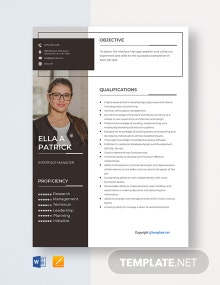 Free Interface Manager Resume Template