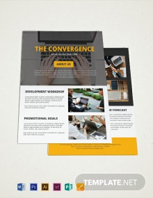 Free One Page Company Brochure Template