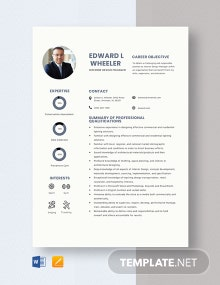 Interior Design Manager Resume Template