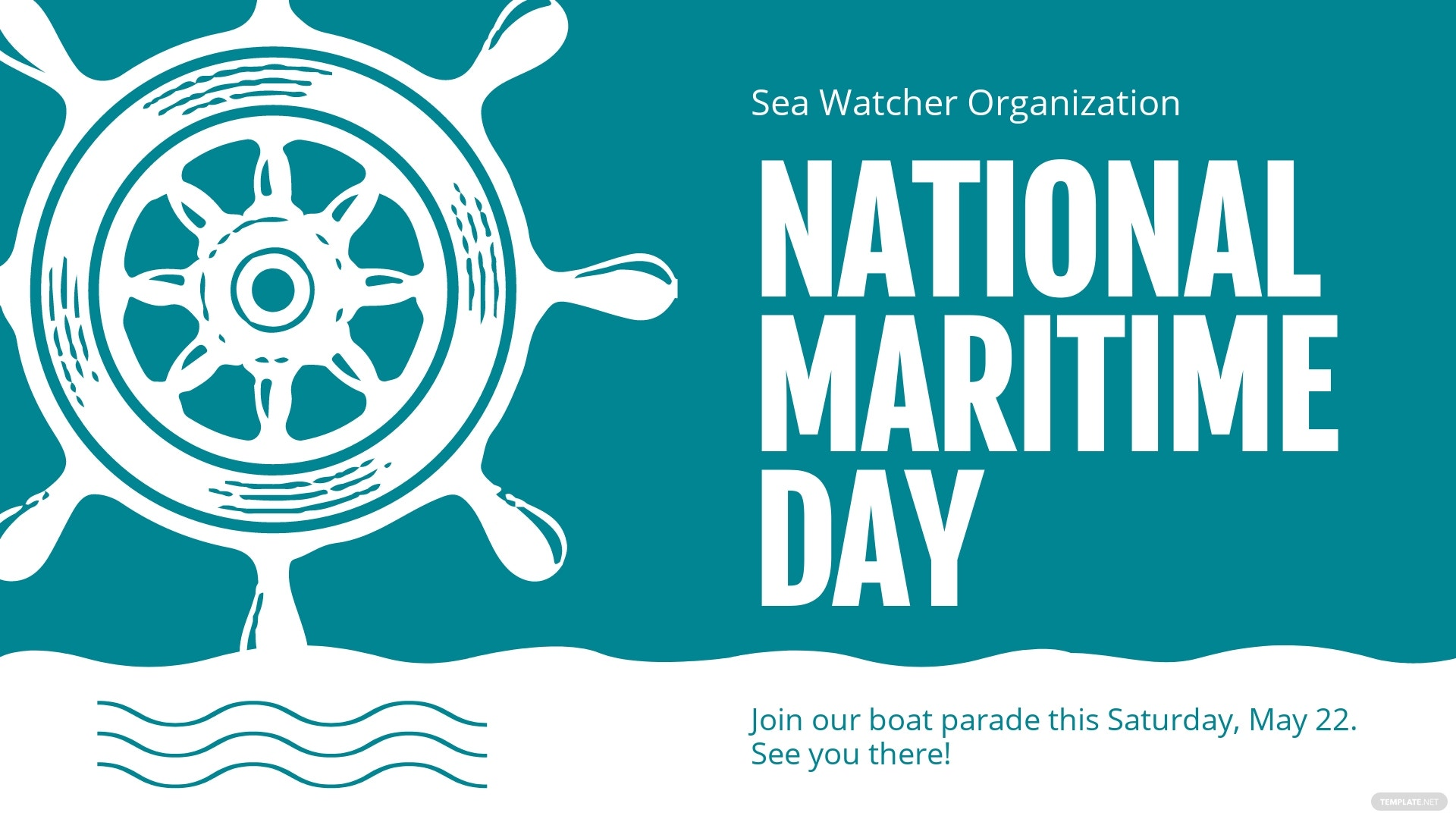 National Maritime Day Facebook Event Cover Template