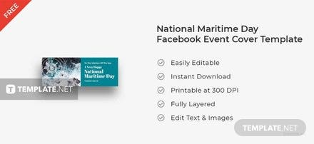 National Maritime Day Facebook Event Cover