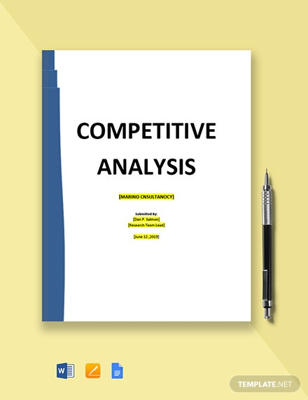 Consulting Firm Competitive Analysis Template