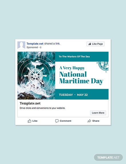 Free National Maritime Day Facebook Post