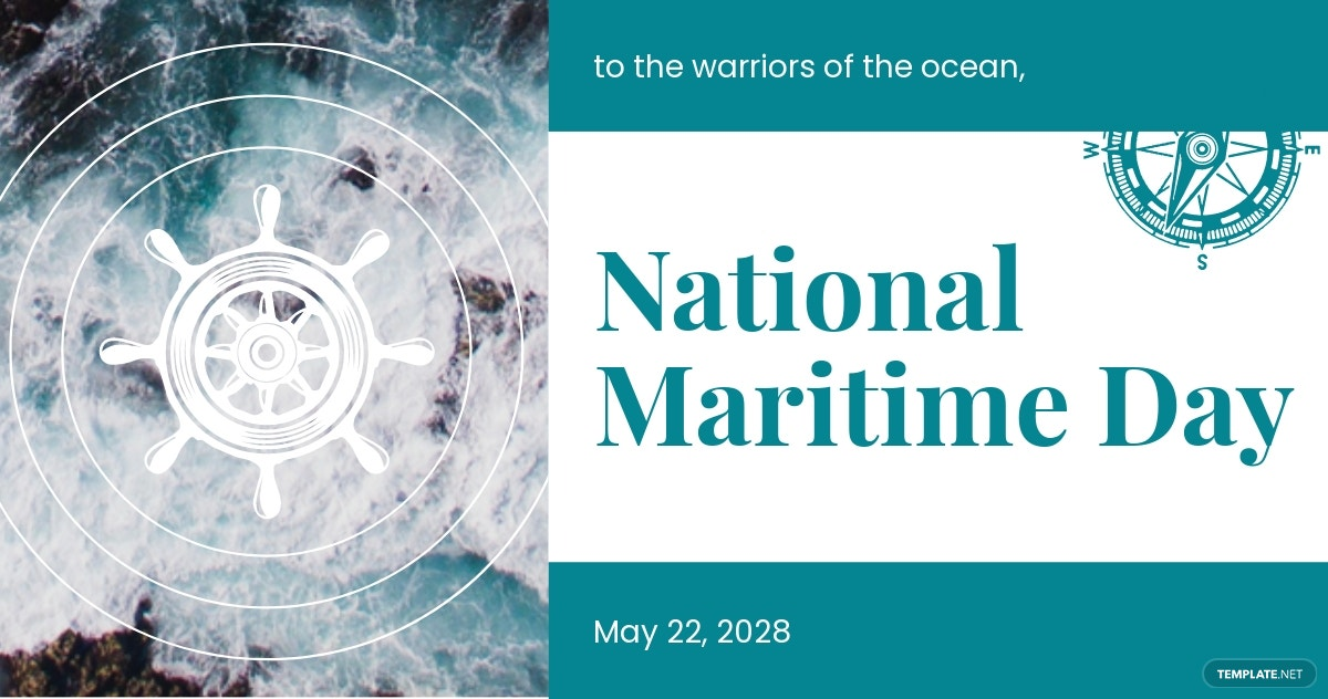 National Maritime Day Facebook Post Template