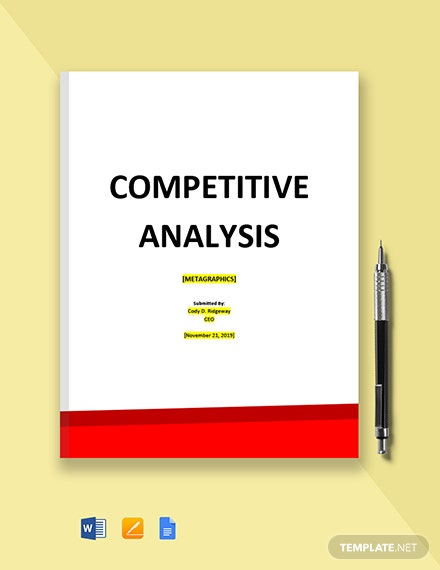 Graphic Design Competitive Analysis Template