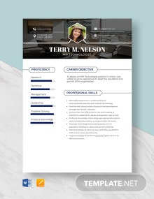 MRI Technologist Resume Template