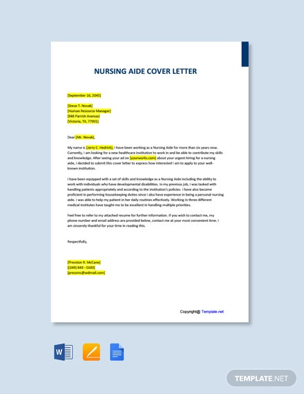 Free Nursing Reference Letter Template Word Doc Google Docs
