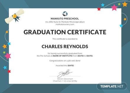 free preschool graduation certificate template download 200 certificates in psd word publisher illustrator pages templatenet - Pages Certificate Templates Free