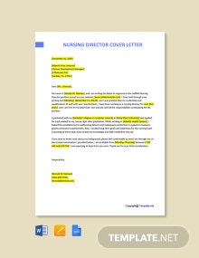 Free Nursing Director Cover Letter Template