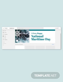 Free National Maritime Day Google Plus Cover