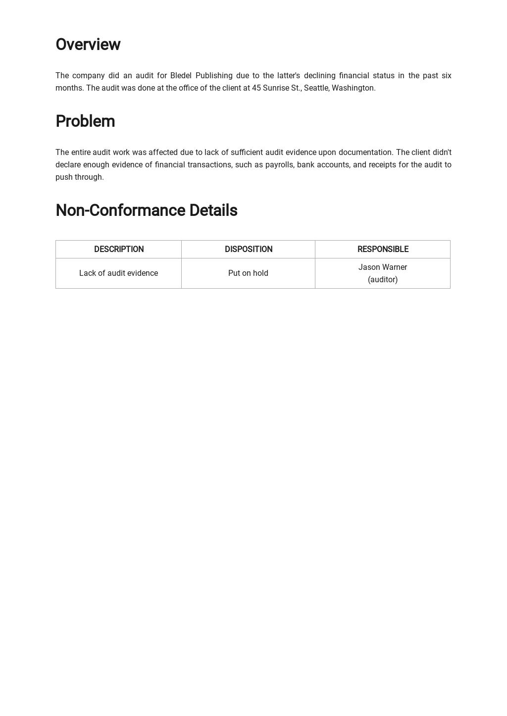 Free Audit Non conformance Report Template 1.jpe