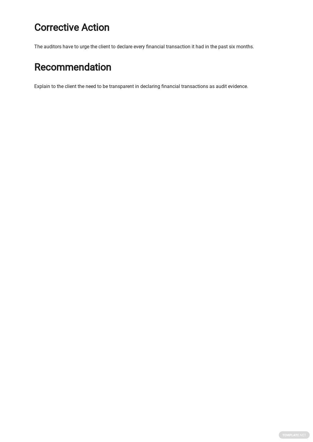 Free Audit Non conformance Report Template 2.jpe