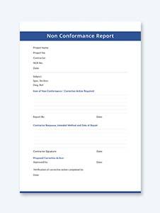 Blank Non conformance Report Template