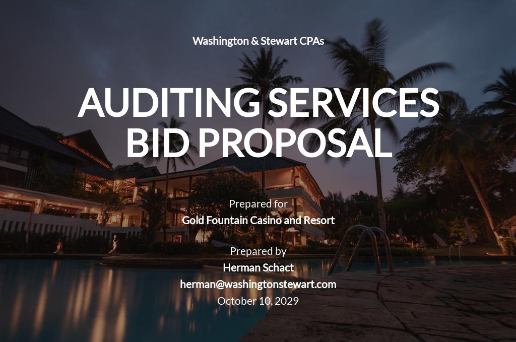 Printable Bid Proposal Template [Free PDF] - Google Docs, Word, Apple Pages
