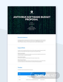 Software Budget Proposal Template