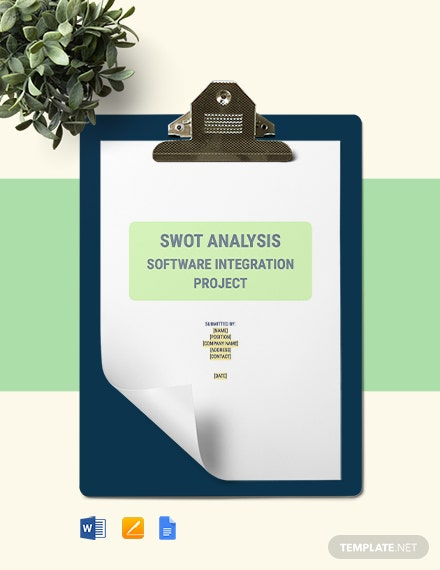 Project SWOT Analysis Template