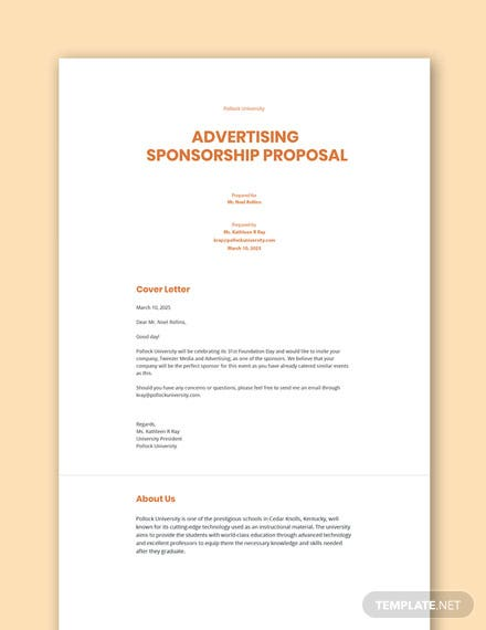Advertising Sponsorship Proposal Template