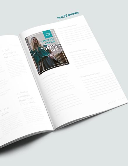 Fashion Photographer Magazine Ads Format
