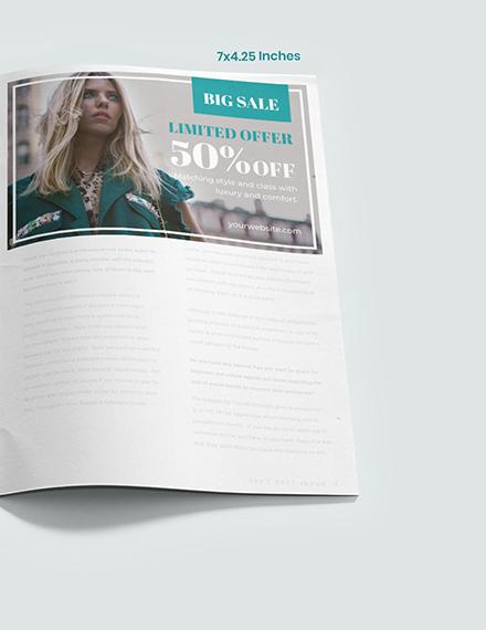 Sample Fashion Photographer Magazine Ads