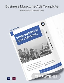 Free Business Magazine Ads Template