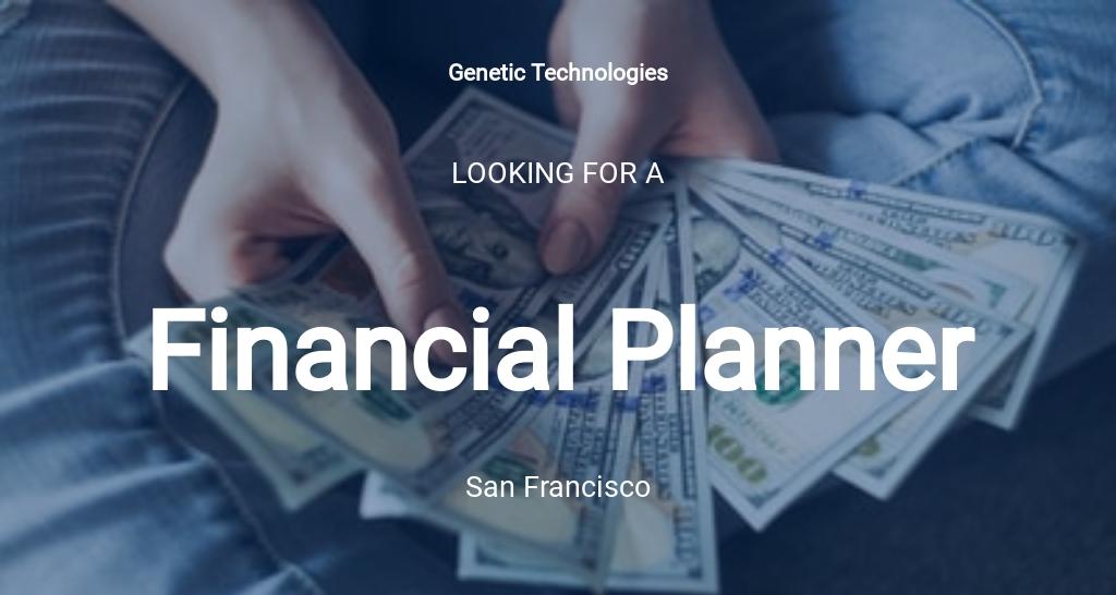 Financial Planner Job Ad/Description Template