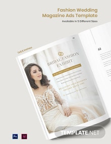 Free Fashion Wedding Magazine Ads Template