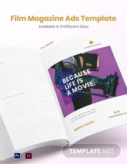 Free Film Magazine Ads Template