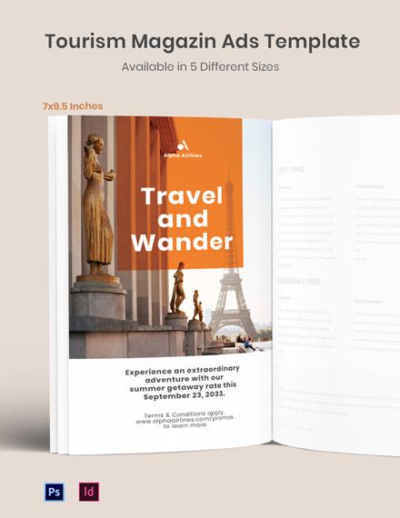 Tourism Magazine Ads Template