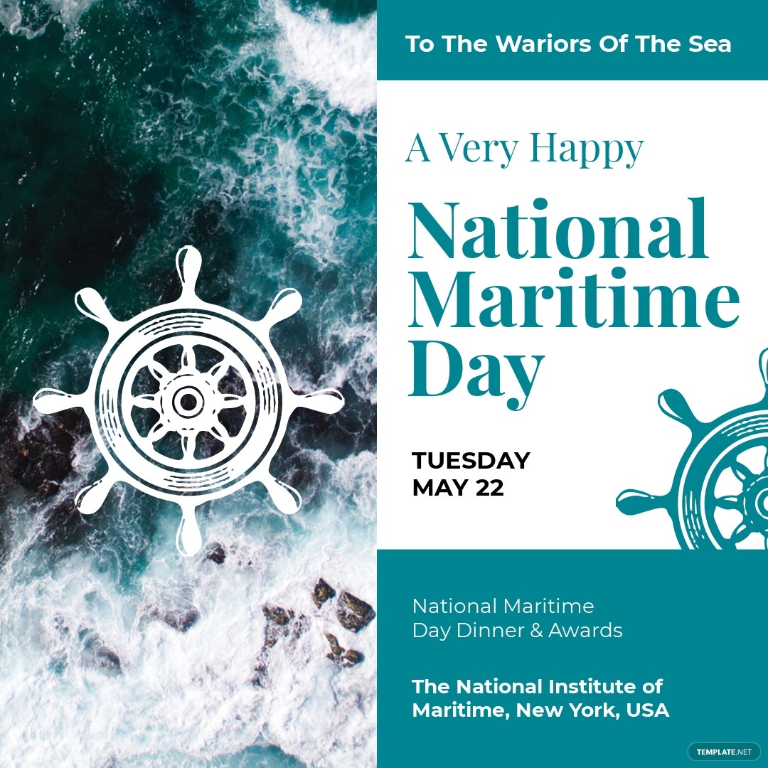 National Maritime Day Instagram Post Template