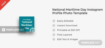 National Maritime Day Instagram Profile Photo Template