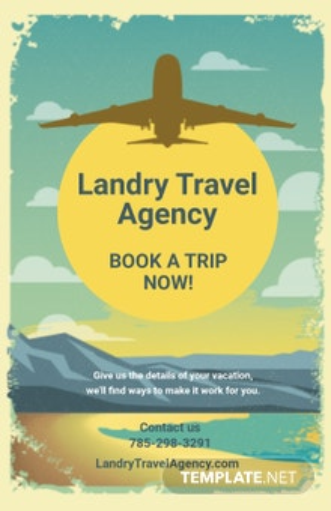 Free Retro Vintage Travel Poster Template