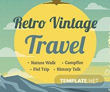 Retro Vintage Travel Poster Template