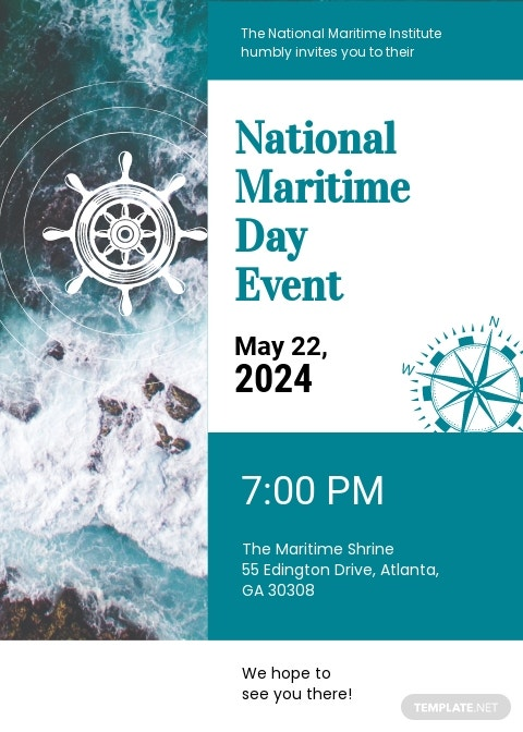 National Maritime Day Invitation Template